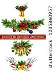 christmas elements for your... | Shutterstock .eps vector #1235860957