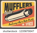 car repair service  mufflers...   Shutterstock .eps vector #1235870047