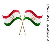 symmetrical crossed tajikistan... | Shutterstock .eps vector #1235872591