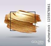 gold grunge texture in a frame. ... | Shutterstock .eps vector #1235878861