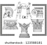 old greek set illustration | Shutterstock . vector #123588181