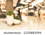 blur people shopping mall... | Shutterstock . vector #1235883394