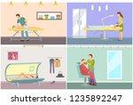 massage and tanning procedure... | Shutterstock .eps vector #1235892247