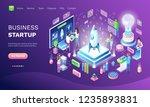 business startup online web... | Shutterstock .eps vector #1235893831