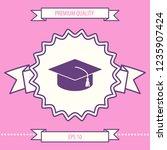 master cap for graduates ...   Shutterstock .eps vector #1235907424