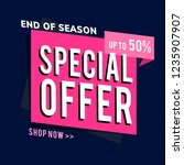 end of season special offer... | Shutterstock .eps vector #1235907907