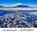 mt fuji  in the early morning....   Shutterstock . vector #1235910877