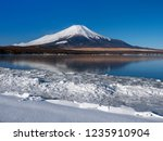 mt fuji  in the early morning.... | Shutterstock . vector #1235910904