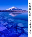mt fuji  in the early morning.... | Shutterstock . vector #1235910937