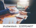 business people meeting design...   Shutterstock . vector #1235914657