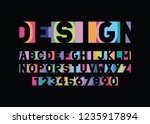 vector of modern colorful... | Shutterstock .eps vector #1235917894