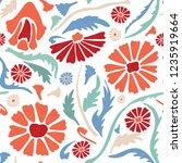 flower all over print vector....   Shutterstock .eps vector #1235919664