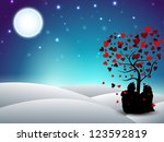 valentines day winter... | Shutterstock .eps vector #123592819