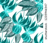 creative seamless pattern with ... | Shutterstock . vector #1235946547