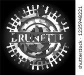 brunette on grey camo pattern | Shutterstock .eps vector #1235948221