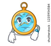 waiting gold vintage clock with ... | Shutterstock .eps vector #1235954584