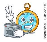 photographer antique watch... | Shutterstock .eps vector #1235954641