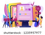 hr managers hiring candidates... | Shutterstock .eps vector #1235957977