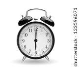 alarm clock on white background | Shutterstock . vector #123596071