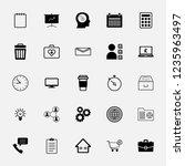 vector icon set in flat design...   Shutterstock .eps vector #1235963497