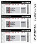 concert tickets template | Shutterstock .eps vector #1235982721