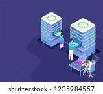 data center concept isometric...   Shutterstock .eps vector #1235984557
