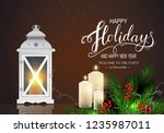 holidays greeting card for... | Shutterstock .eps vector #1235987011