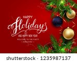 holidays greeting card for... | Shutterstock .eps vector #1235987137
