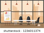 office workplace conference... | Shutterstock .eps vector #1236011374