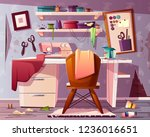 vector background of dirty... | Shutterstock .eps vector #1236016651