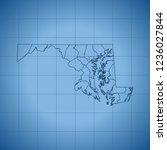map of maryland | Shutterstock .eps vector #1236027844