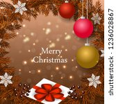 merry christmas winter holiday ... | Shutterstock .eps vector #1236028867