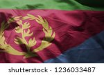 eritrea flag rumpled close up  | Shutterstock . vector #1236033487