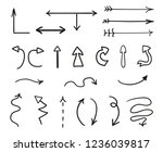 hand drawn infographic elements ... | Shutterstock .eps vector #1236039817