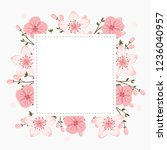 Floral Greeting Card And...