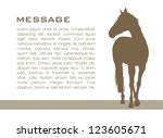Background With Horse Vector...