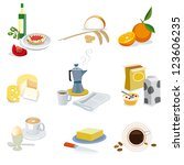 set of ingredients for a... | Shutterstock .eps vector #123606235