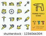 electric rapair power tools... | Shutterstock .eps vector #1236066304