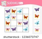sudoku game for children with... | Shutterstock .eps vector #1236073747