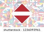 flag background of european... | Shutterstock .eps vector #1236093961