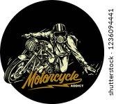 custom bike motorcycle with... | Shutterstock .eps vector #1236094441