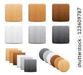 set of wood buttons | Shutterstock .eps vector #123609787