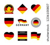 germany flag illustration ... | Shutterstock .eps vector #1236100807