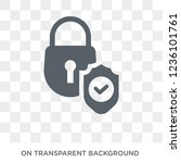 locked padlock insurance icon.... | Shutterstock .eps vector #1236101761