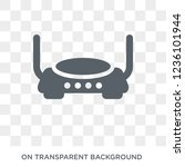 modem with two antenna icon.... | Shutterstock .eps vector #1236101944