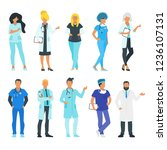 doctor set. physician man and...   Shutterstock .eps vector #1236107131