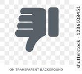 dislike icon. dislike design... | Shutterstock .eps vector #1236108451