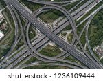 aerial view of highway and... | Shutterstock . vector #1236109444