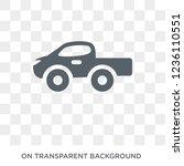 pickup icon. pickup design... | Shutterstock .eps vector #1236110551