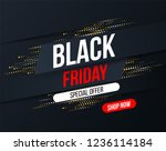 abstract black friday banner... | Shutterstock .eps vector #1236114184